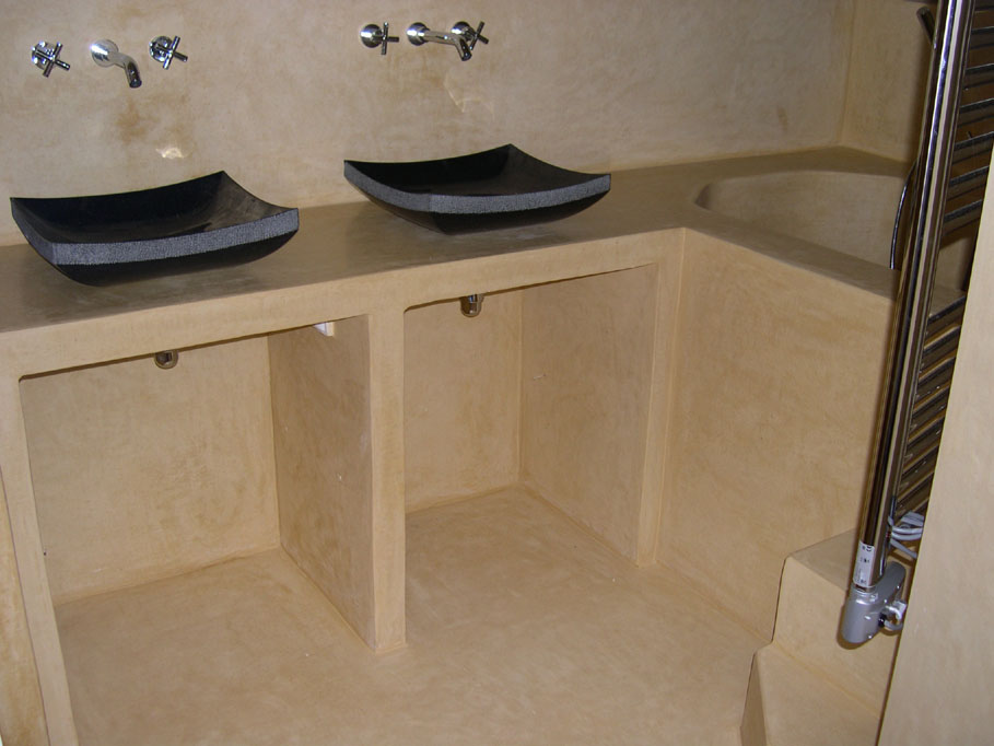 Tadelakt de Marrakech, Lahouari Tahiri  salle de bain en tadelakt